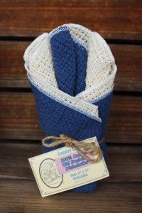 Slate Blue & Natural Dishcloths