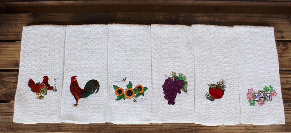decorative embroidered kitchen towels
