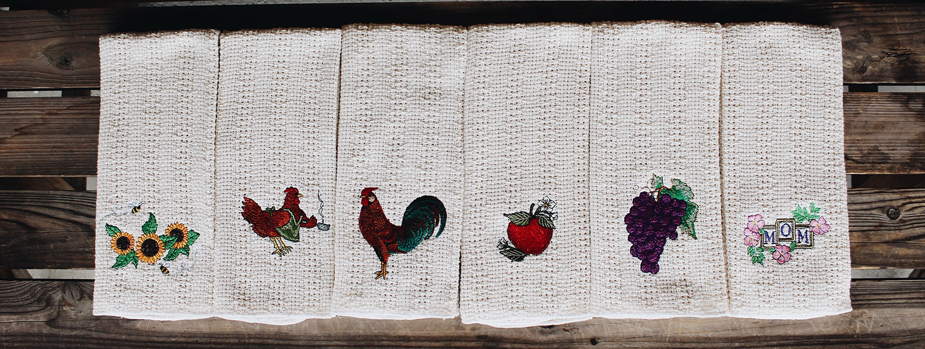 embroideredcottonkitchentowels
