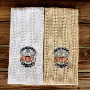 embroidered police kitchen towels