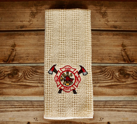 Fire Department Embroidered Kitchen Towels