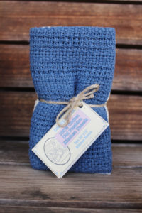 slate blue kitchen towel