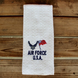 us air force embroidered kitchen towel