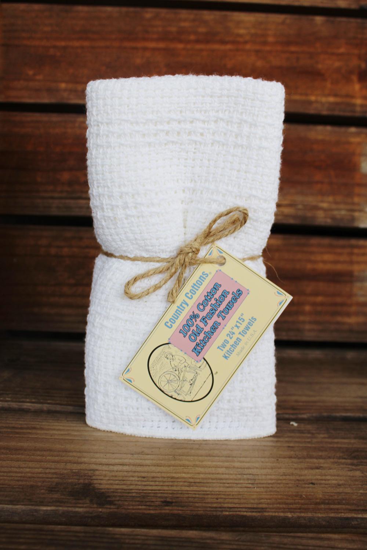 white kitchen towels