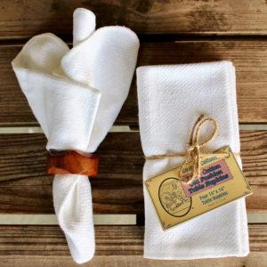 white cotton table napkins
